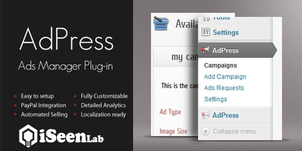 AdPress WordPress Advertising Plugin
