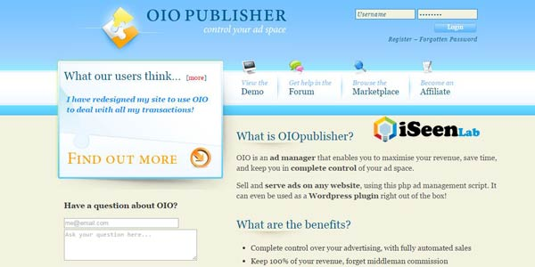 oio publisher affiliate plugin wordpress