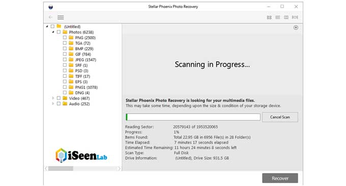 photo recovery tool scan